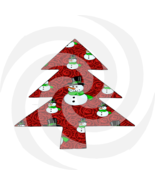 Christmas Tree 12t-Digital ClipArt--Gift Tag--Holiday-Scrapbook-Gift Card.  - $4.99