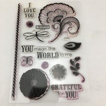 Close To My Heart Spring I Love You Acrylic Stamp Set Unused Butterfly F... - $19.97