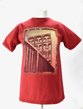 Obey Propaganda T Shirt Andre Giant Graphic Red Tee Medium - $17.77