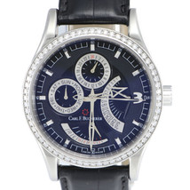Carl F. Bucherer Manero RetroGrade Watch 00.10901.08.36.01 Black Steel D... - $4,914.25