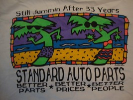 Vintage Standard Auto Parts Still Jammin After 33 Years White T Shirt Si... - $15.53