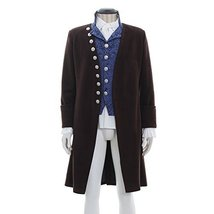 1791's Men's Colonial Victorian Edwardian Georgian Frock Coat Vest Blous... - $143.55