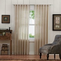 """NEW 2 Pack Faux Linen Light Filtering Window Panels in Taupe 50"""" x 84"""" - $28.50"""