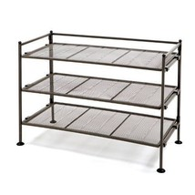 3-Tier Shelve Iron Utility Shoe Rack Storage Organizer Bathroom Room Bro... - $60.56 CAD