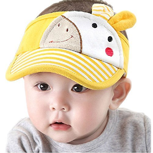 Baby Sun Protection Hat Infant Cap Toddler Without Top 9-36Months(Yellow)