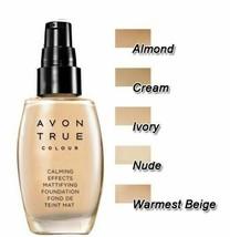 AVON Calming Effects Mattifying Foundation  30 ml - Almond - New - $19.79