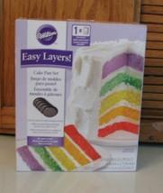 Wilton 2105-0112 Easy Layers 5-Piece Cake Pan Set, 6-Inch NEW w Box - $15.83