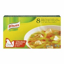 3PACK Knorr Chicken Bouillon Flavoured Cubes Halal 80g FROM CANADA -ALWA... - $9.85