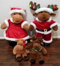 Build A Bear Holiday Hal And Holly Moose Santa & Mrs. Claus Christmas Pl... - $30.47
