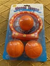 Baby & Toddler Gift Set Bath Toys Basketball Balls & Hoop Kids Game Wate... - $11.69