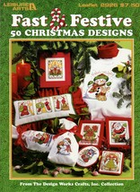 Fast & Festive 50 Christmas Designs Cross Stitch Leaflet 2926 Santas Sno... - $7.95
