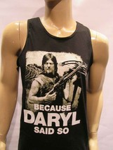 Because  Daryl Said So Tank Top  The Walking Dead Black Tank  AAA Tv Show Poster - $17.99+