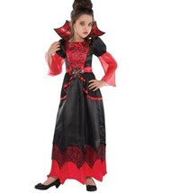 Girls Gothic Vampiress Dracula Vampire Halloween Costume Child Size 8/10? - $23.36