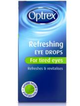 2 X Optrex Refreshing Eye Drops 10ml For Tired Eyes Free Shipping New - $19.70