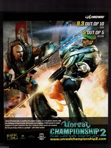 Original 2005 Print Ad Unreal Championship 2 Video Game Advertisement - $7.59