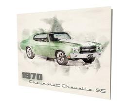 1970 Chevrolet Chevelle Super Sport SS Muscle Car Design 16x20 Aluminum Wall Art - $59.35