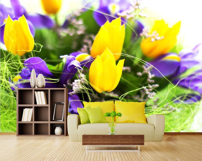 3d gelbe tulpen 636 fototapeten wandbild fototapete - Wandbild familie ...