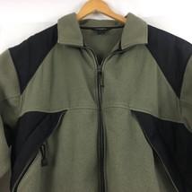 Woolrich Mens  Zip Up Fleece Jacket Sz L Large Zip Up Pockets B209 image 2