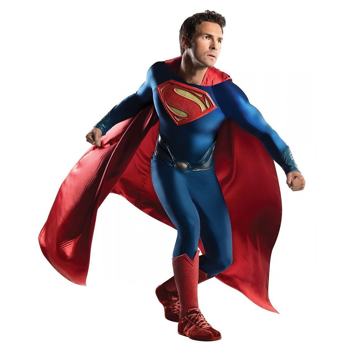 Grand Heritage Adult Justice League Superman DELUXE Costume Free Shipping