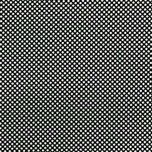 Dots and Stripes Black w/White Dots Cotton Fabric by RJR Fabrics - $11.40