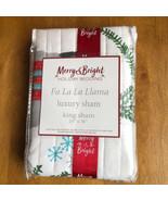 Merry & Bright Fa La La Llama King Quilted Sham NEW - $29.70