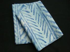 King 2 Pillowcases m/w Ralph Lauren Paisley Jamaica Blue Herringbone Chevron 450 - $78.99