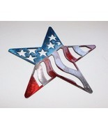 """Stars and Stripes Barn Star Metal Wall Art Decor 7"""" Red/White & Blue - $10.39"""