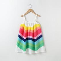 NEW Rainbow Girls White Sleeveless Sun Dress 2T 3T 4T 5T 6 - $10.99