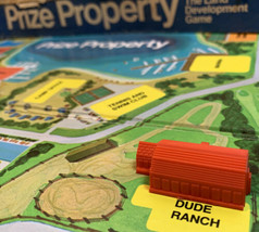 Prize Property Game Piece Dude Ranch Building Orange Milton Bradley 1974 - $3.95