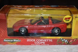 American muscle ertl collectibles 1:18 Red 2003 Corvette Coup - $14.84