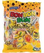 Colombina Bon Bon Bum Bubble Gum Pops Passion Fruit (Pack of 24) - $9.89