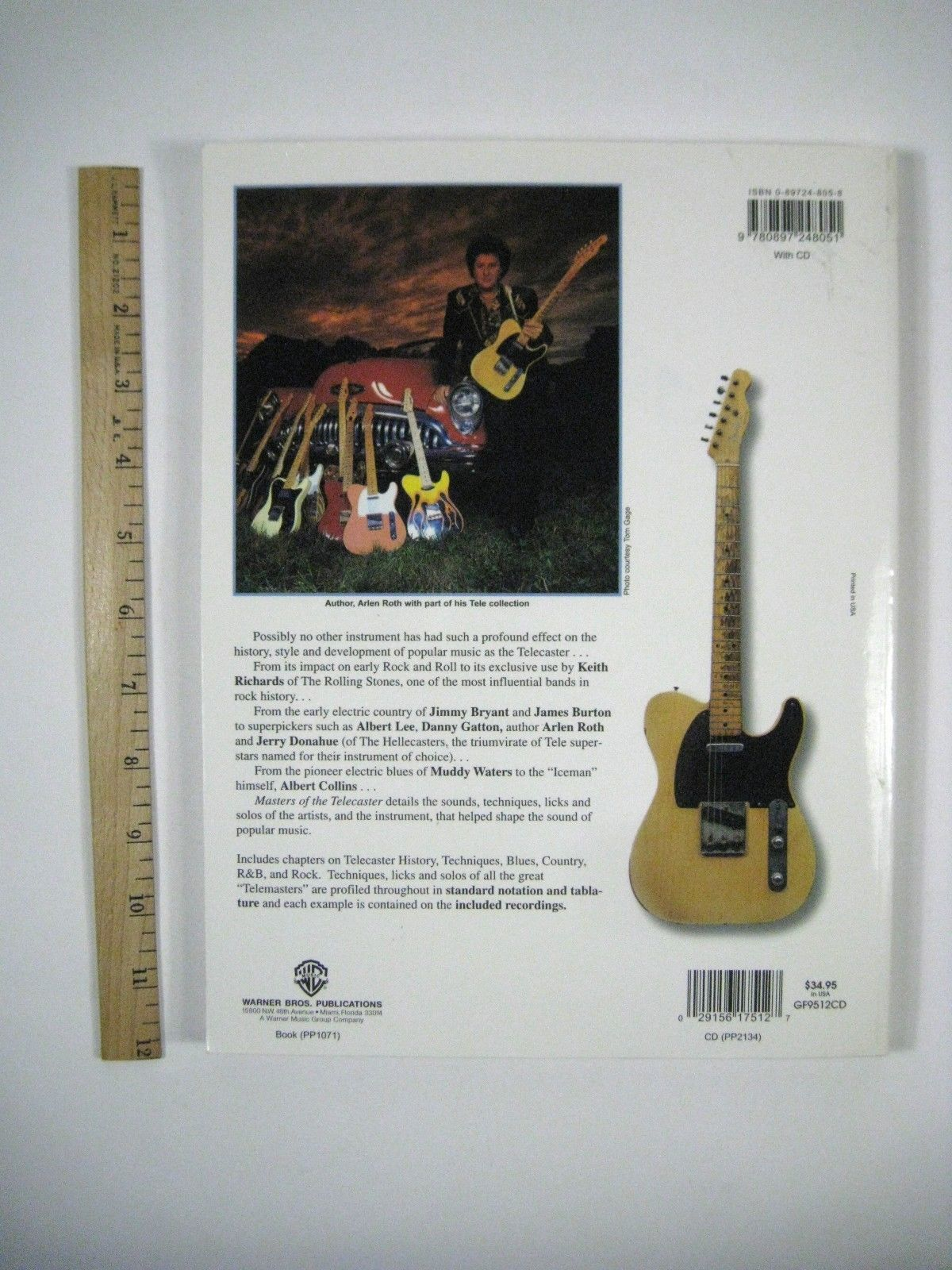 Masters of the Telecaster by Arlen Roth (1996, Paperback) NO CD