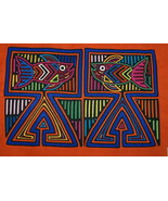 Vintage Kuna Hand StitchedTraditional Blouse Mola Applique Art tropical ... - $66.49