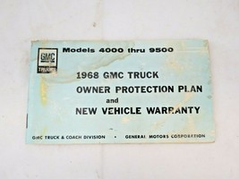 1968 GMC TRUCK 4000 - 9500 ORIGINAL OWNERS PROTECTION & NEW VEHICLE WARR... - $14.46