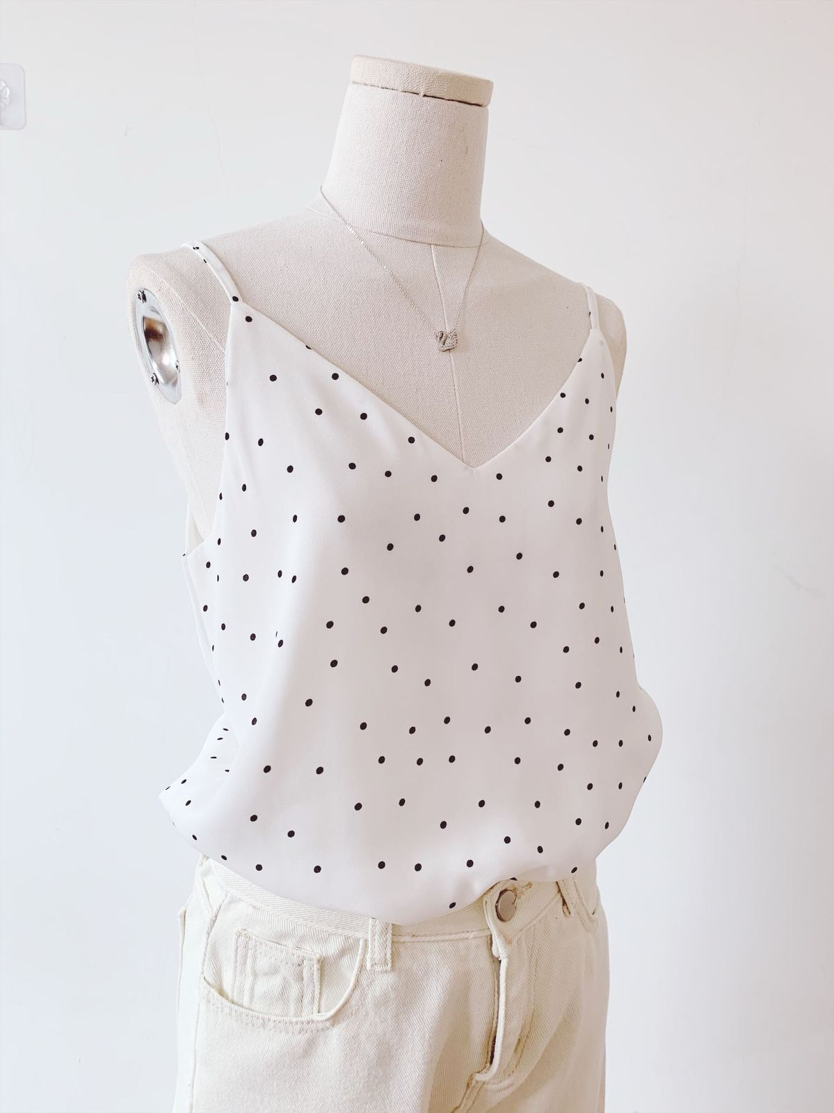 Chiffon top little dot pattern 5