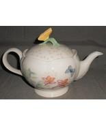 Lenox BUTTERFLY MEADOW PATTERN 5 Cup Teapot w/lid LAURIE LE LUYER - $79.19