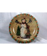 Certified International Country Snowman Dinner Plate - $7.61