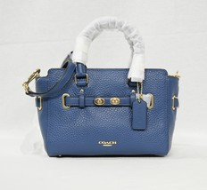 Coach F37635 Mini Blake Carryall Leather Satchel/Shoulder/Crossbody Bag Ink Blue - $229.00