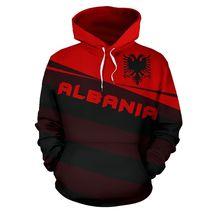 Unisex Albania Flag 3D Hoodie All Over Print - $49.99
