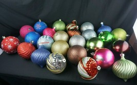 Extra Large Christmas Ornaments Balls Plastic Great for Outdoor Indoor Tree - $49.95