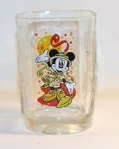 Clear Glass Mickey Mouse McDonald's Walt Disney World 2000 Celebration  - $8.91