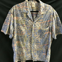 Vtg Royal Creations Hawaiian Mens Shirt XL Blue Multicolor - $28.49