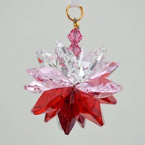 Red Ombre Small Suncluster with Austrian Crystal