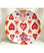 """Williams Sonoma AMOUR HEART IKAT 9"""" Plate NWOT - $14.99"""