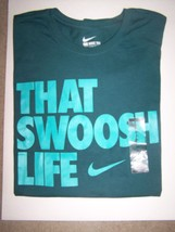 Nike That Swoosh Life Logo Pullover T Shirt Mens Sz XL Green NWT - $16.78