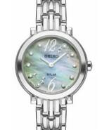 Seiko Women's Tressia Solar 'Blue Mother Of Pearl' Diamond Watch SUP353 - $177.65