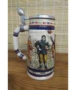 1983 AVON COLLECTIBLE LIDDED BEER STEIN - DECADES OF FOOTBALL EXCELLENT ... - $9.79