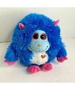 Ty Monstaz Jerry Blue Pink  Plush Stuffed Animal Toy 8 in Fluffy - $12.19