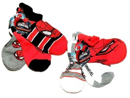Marvel Ultimate Spider-Man Boys 3pk Socks Shoe Size 3-8.5 NWT - $5.84