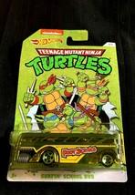 Hot Wheels Teenage Mutant Ninja Turtles Party Van Surfin' School Bus - $8.90